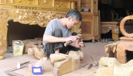 Làng nghề mộc Chàng Sơn