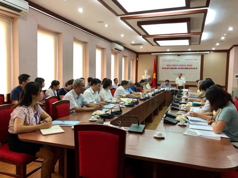 Hội thảo khoa học về Văn hóa thời kỳ Hùng Vương