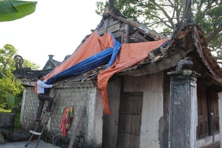 Tình trạng xuống cấp di tích lịch sử - văn hóa đền Cửa Gan