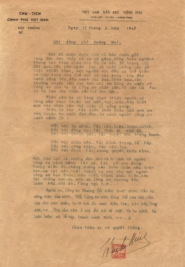 """Tìm hiểu nơi Bác Hồ viết bức thư gửi đồng chí Hoàng Mai nói về """"Tư cách người Công an cách mệnh"""""""