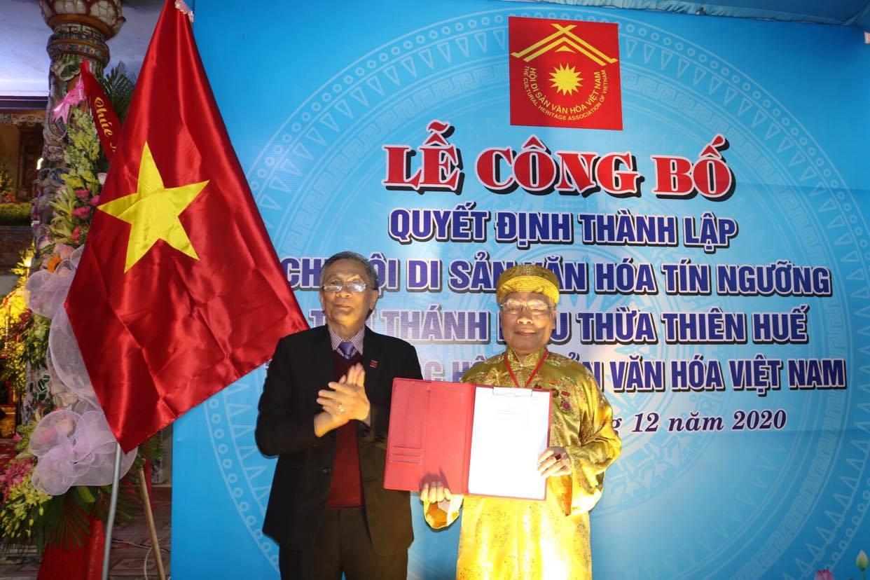 Lễ công bố quyết định thành lập Chi hội DSVH Tín ngưỡng thờ Thánh Mẫu Thừa Thiên Huế